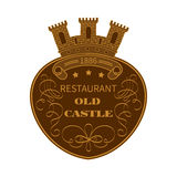 Poster old castle restaurant Stock Image