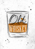 Poster old whiskey paper Royalty Free Stock Image