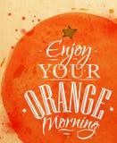 Poster orange Royalty Free Stock Photo
