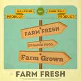 Poster for Organic Farm Food Stock Image