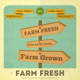 Poster for Organic Farm Food Stock Image