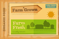 Poster for Organic Farm Food Stock Photo