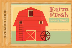Poster for Organic Farm Food Royalty Free Stock Photos
