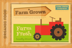 Poster for Organic Farm Food Royalty Free Stock Image