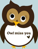 Poster: Owl miss you Stock Photo