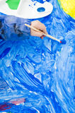 Poster paint brush Royalty Free Stock Photography