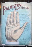 Poster with Palmistry hand in the window shop Stock Images
