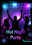 Poster for party template Royalty Free Stock Images