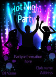 Poster for party template Royalty Free Stock Photo
