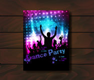 Poster for party template Stock Photography