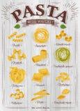 Poster Pasta Wood Royalty Free Stock Photos