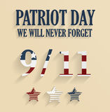9/11 poster. Patriot Day. Never forget Royalty Free Stock Photography