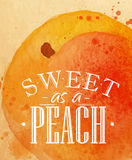 Poster peach Royalty Free Stock Photography