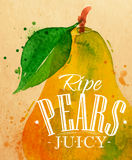 Poster pear Royalty Free Stock Images