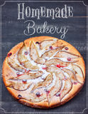 Poster Pears Pie Homemade Bakery on the Wooden background Royalty Free Stock Images