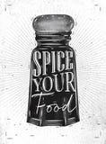 Poster pepper castor spice Stock Images