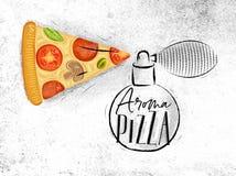 Poster aroma pizza Vector Illustration
