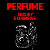 Poster for perfume company with girl royalty free stock image