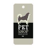 Poster Pet Shop Design label Alaskan Malamute Geometric style Royalty Free Stock Photography