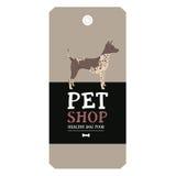 Poster Pet Shop Design label American Hairless Terrier Geometric Stock Photo