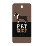 Poster Pet Shop Design label American Staffordshire Terrier Geom Royalty Free Stock Image
