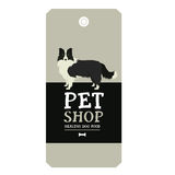 Poster Pet Shop Design label Border Collie Geometric style Stock Photos