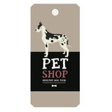 Poster Pet Shop Design label Great Dane Geometric style. Set Royalty Free Stock Image
