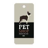Poster Pet Shop Design label Vector Illustration Boston Terrier Royalty Free Stock Image