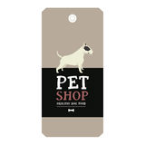 Poster Pet Shop Design label Vector Illustration Bull Terrier Royalty Free Stock Photos