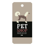 Poster Pet Shop Design label Vector Illustration Chinese Crested. Dog set Stock Photos