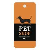 Poster Pet Shop Design label Vector Illustration Dachshund Stock Images