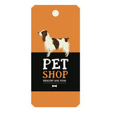 Poster Pet Shop Design label Vector Illustration English Springe. Poster Pet Shop Design label Vector Illustration Dog English Springer Spaniel Stock Photography