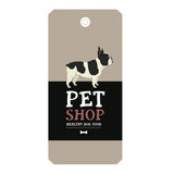 Poster Pet Shop Design label Vector Illustration French Bulldog Royalty Free Stock Photography