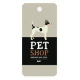 Poster Pet Shop Design label Vector Illustration Toy Terrier Royalty Free Stock Images