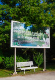 The poster with a picture natural reservation Baltata. Albena Royalty Free Stock Photography