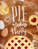Poster pie craft Stock Image