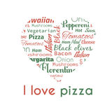 Poster with pizza tags. Royalty Free Stock Image