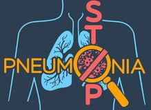 Poster  pneumonia Stock Images