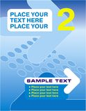 Poster with a pointer. Blue yellow number Stock Photos