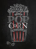 Poster popcorn black Royalty Free Stock Photo