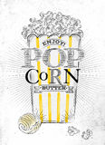 Poster popcorn butter Stock Image