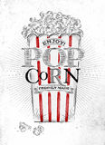 Poster popcorn Stock Photography