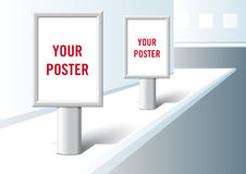 Poster presentation format. Royalty Free Stock Photography