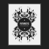 Poster/print template with symmetric abstract element Stock Images