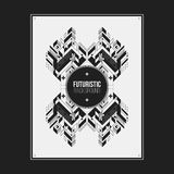 Poster/print template with symmetric abstract element Royalty Free Stock Photography