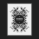 Poster/print template with symmetric abstract element Royalty Free Stock Photo