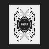 Poster/print template with symmetric abstract element Stock Photos