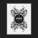 Poster/print template with symmetric abstract element Stock Photography