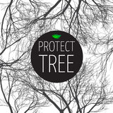 Poster protect tree Stock Photo