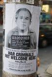 Poster protesting Bush visit in Toronto, Canada Stock Image